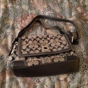 Coach tan and brown purse